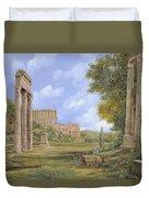 Anfiteatro Romano Duvet Cover by Guido Borelli