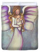 Angel And Baby Duvet Cover