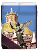 Angel And Cathedral Duvet Cover