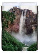Angel Falls Canaima National Park Venezuela Duvet Cover by Dave Welling
