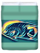 Angel Fish In Turquoise Tones Duvet Cover