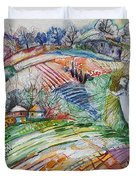 Angel From Jacob's Ladder Duvet Cover