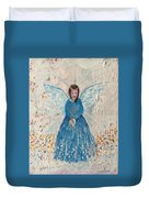 Angel In Blue Duvet Cover