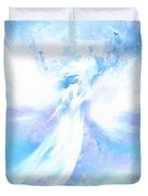 Angel In Hotty Totty In Thick Paint Duvet Cover