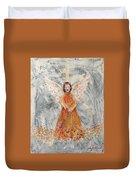 Angel In Orange Duvet Cover