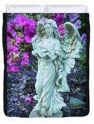 Angel In The Garden Duvet Cover