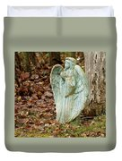 Angel In The Woods Duvet Cover by Danielle Allard