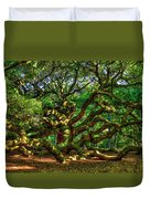 Angel Oak Morning Shadows Charleston South Carolina Duvet Cover