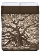 Angel Oak Sepia Duvet Cover
