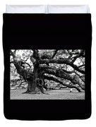 Angel Oak Tree 2009 Black And White Duvet Cover by Louis Dallara