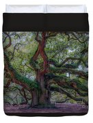 Angel Oak Tree Deeply Rooted History Duvet Cover