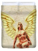 Angel Of Love By Mb Duvet Cover