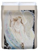 Flying Lamb Productions.   Angel Of Mercy -2 Duvet Cover