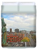 Angel Of Old Montreal Duvet Cover