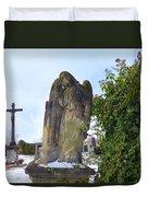 Angel On Graveyard Duvet Cover