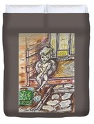 Angel Protecting Home Duvet Cover