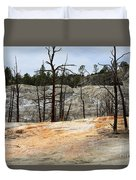 Angel Terrace At Mammoth Hot Springs Yellowstone National Park Duvet Cover