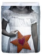 Angel With A Star Duvet Cover