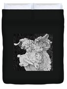 Angel With Harp Duvet Cover