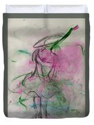 Angel With Pink Wings Duvet Cover