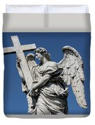 Angel With The Cross Duvet Cover