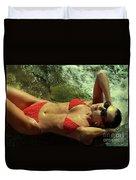 Angela Red Bikini-0721 Duvet Cover