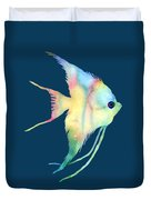 Angelfish I - Solid Background Duvet Cover