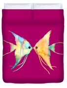 Angelfish Kissing Duvet Cover