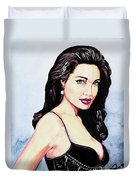 Angelina Jolie Portrait Duvet Cover