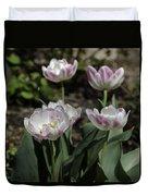 Angelique Peony Tulips Squared Duvet Cover