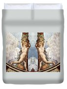 Angels And Fruits Duvet Cover
