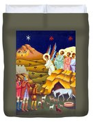 Angels And Shepherds Duvet Cover