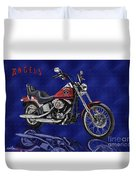 Angels Harley - Oil Duvet Cover