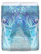 Angels Ketubah-reformed And Interfaith Version Duvet Cover