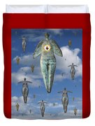 Angels Of Quebec Duvet Cover