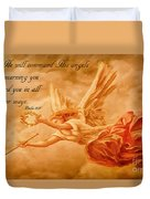 Angels On Guard Duvet Cover