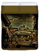 Angels On The Battlefield - Oil Duvet Cover