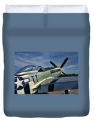 Angels Playmate P-51 Duvet Cover