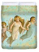 Angels Three Children Vintage Duvet Cover