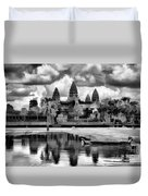Angkor Wat Black Oil Paint  Duvet Cover