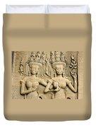 Angkor Wat Relief Duvet Cover