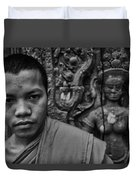 Angkor Watbuddhist Monk Portrait Duvet Cover