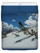 Angles Of The Mountain Duvet Cover