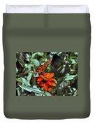 Angling For Food Duvet Cover