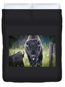 Angry Bison Duvet Cover