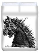 Angry Horse Duvet Cover