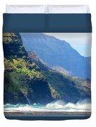 Angry Sea, Na Pali Coast Duvet Cover