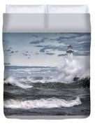 Angry Waters Of Lake Ontario Duvet Cover