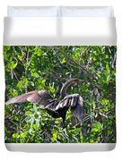 Anhinga In The Sun Duvet Cover