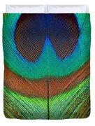 Animal - Bird - Peacock Feather Duvet Cover